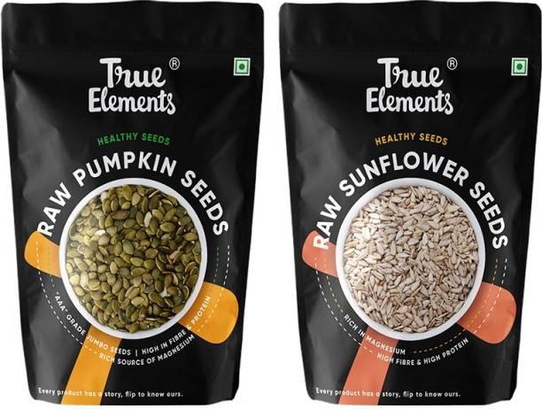 True Elements Raw Pumpkin Seeds and Raw Sunflower Seeds