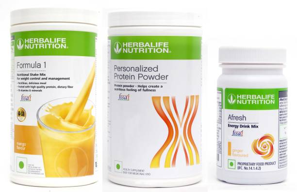 HERBALIFE Weight Loss Combo : Formula 1 Nutritional Shake+Protein Powder+Afresh Energy Drink Energy Drink