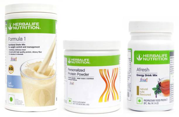 HERBALIFE Weight Loss Combo -Formula 1 Nutritional Mix, Protein Powder& Afresh Energy Drink Energy Drink