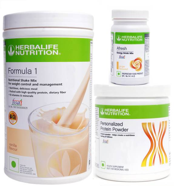 HERBALIFE weight loss pack of formula 1 vanilla protein 200 gm afresh ginger Energy Drink