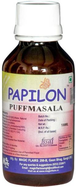 PAPILON CONCENTRATED FOOD FLAVOUR PUFFMASALA 100ML Garlic Liquid Food Essence