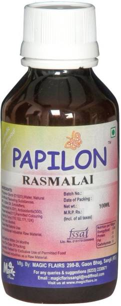 PAPILON CONCENTRATED FOOD FLAVOUR RASMALAI 100ML Rabdi Liquid Food Essence