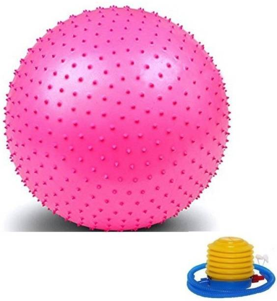 Giffy 75 cm Spiked Non-Slip Gym Ball, for Yoga, Core Training Exercises at Gym & Home Gym Ball