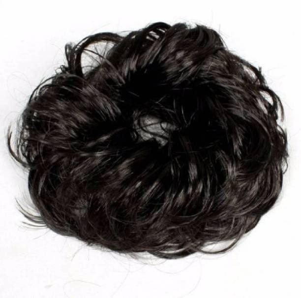 THE Bling STORES Juda Rubber Band Bun Hair Extension For Women, Parties, Wedding Bun