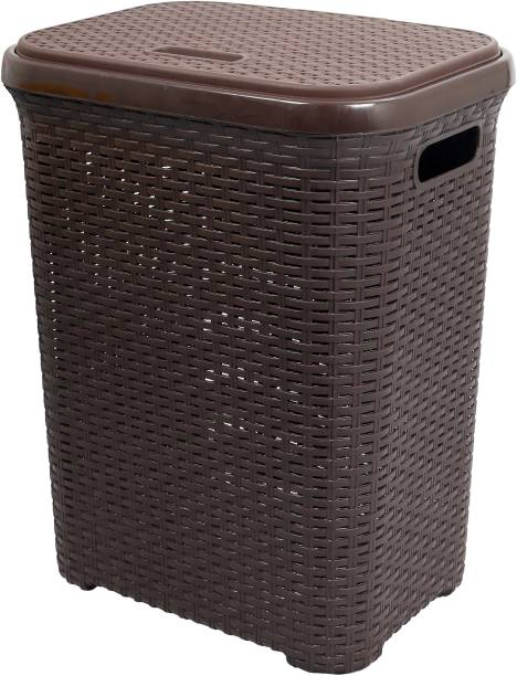 Esquire 50 L Brown Laundry Basket