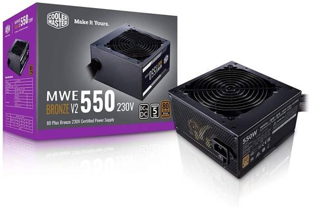 COOLER MASTER MWE 550 Bronze V2 230v, 80 Plus Bronze Certified 550 Watts PSU
