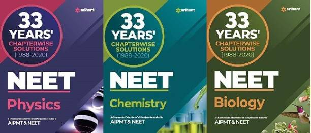 33 Year's Chapterwise Solutions CBSE AIPMT & NEET Physics, Chemistry, Biology 2021
