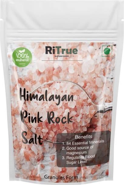 RiTrue 500 Gm Imported Himalayan Pink Rock Salt ( Granules ) Organic for weight loss Himalayan Pink Salt