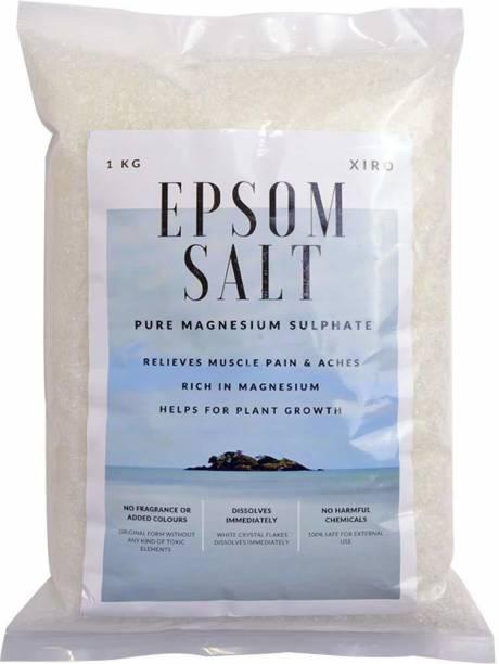 Warehouse XIRO Epsom Salt for Plants (1 kg) Magnesium Sulphate for Plants | Fertilizer Ideal for Garden & Fruits Vegetables and Skin Hair Bath Salt and suitable for Muscle Relief aches pains Fertilizer