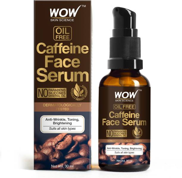 WOW SKIN SCIENCE Caffeine Face Serum - Quick Absorbing - OIL FREE - Anti-Aging, Anti-Wrinkles & Acne; Refresh, Revive & Restore Skin - No Parabens, Silicones, Mineral Oil - 30 ml