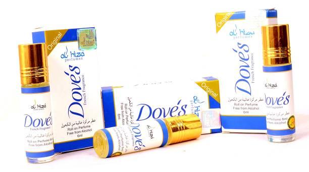 "AL Hiza DOVE""S PERFUME pack of 3 Floral Attar"