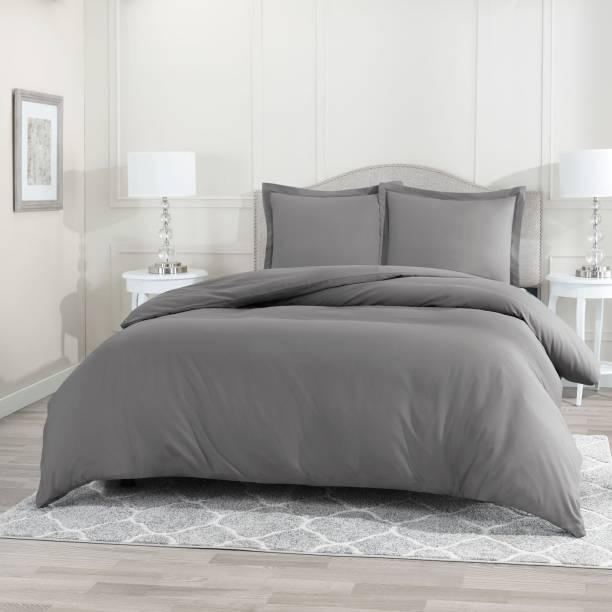 BEVI 300 TC Microfiber Double Solid Bedsheet