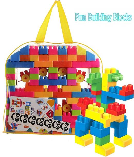 BOZICA 100 Pcs Building Blocks,Creative Learning Toy For Kids Puzzle Assembling Shape Building Unbreakable Toy Set