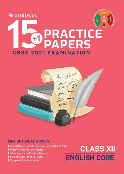 15+1 Practice Papers - English Core: CBSE Class 12 for 2021 Examination