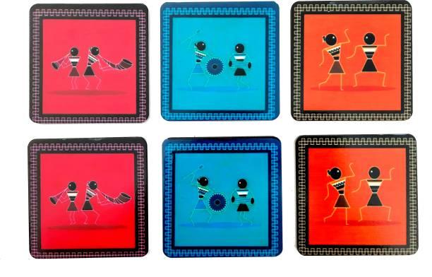Shiva Arts Square Wood Coaster Set