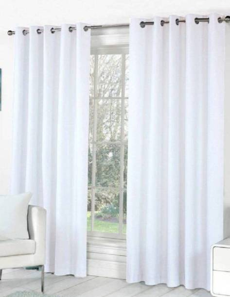 HHH FAB 151 cm (5 ft) Polyester Window Curtain (Pack Of 2)