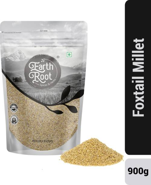 EARTHROOT Natural Unpolished Foxtail Millet (Navane / Kakum / Korra / Tenai) - 900 g Foxtail Millet