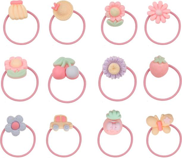 Arendelle Pack of 12 Colourful Rubber Band [AHA112] Hair Pin
