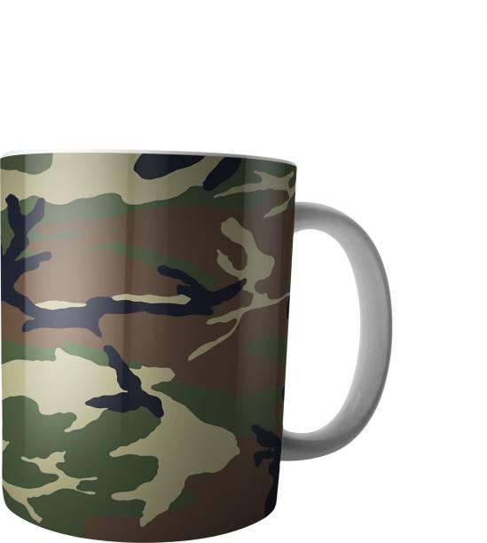 PRINTAXA Beautiful Fauji Printed Creamic Coffee/Tea Ceramic Coffee Mug