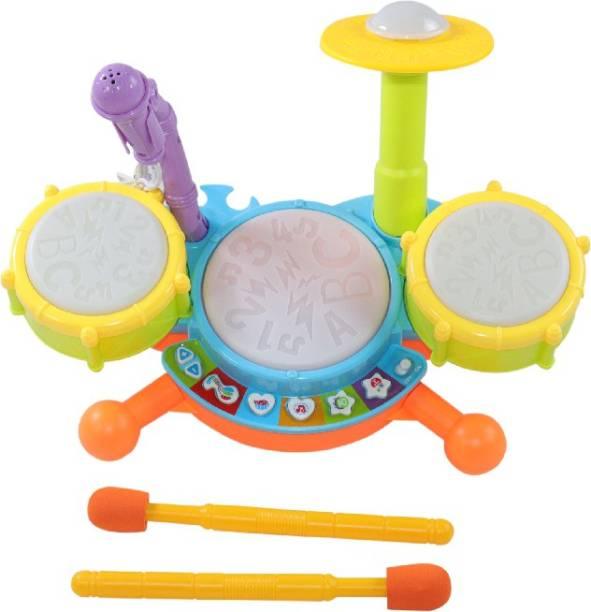 Tector Dynamic Baby Jazz Drum With Mic - Flashing Lights - Music
