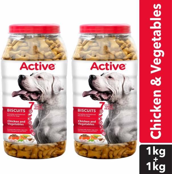 Active Chicken Flavour Biscuits Chicken Dog Treat