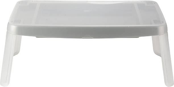 MIGGLO White Lap Desk Table Plastic Portable Laptop Table