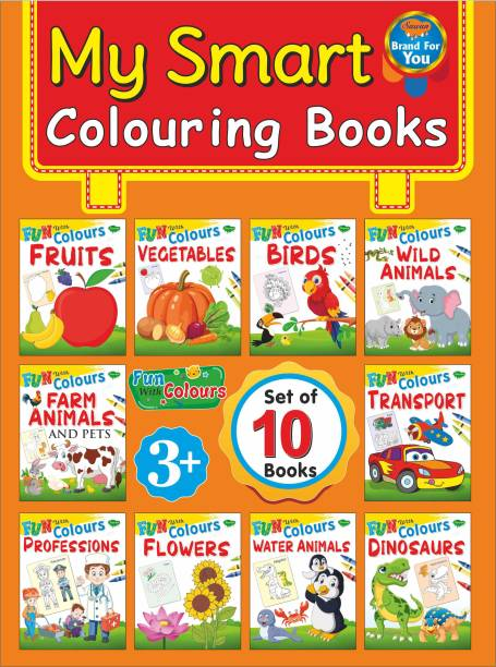 Colouring Books | Set Of 10 Books