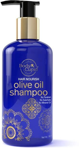 Body Cupid Hair Nourish Olive Oil Shampoo - 300 ml - No Sulphate , No Paraben
