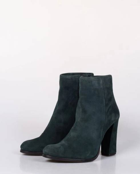 miniPRICE Green Boots with Heel Boots For Women