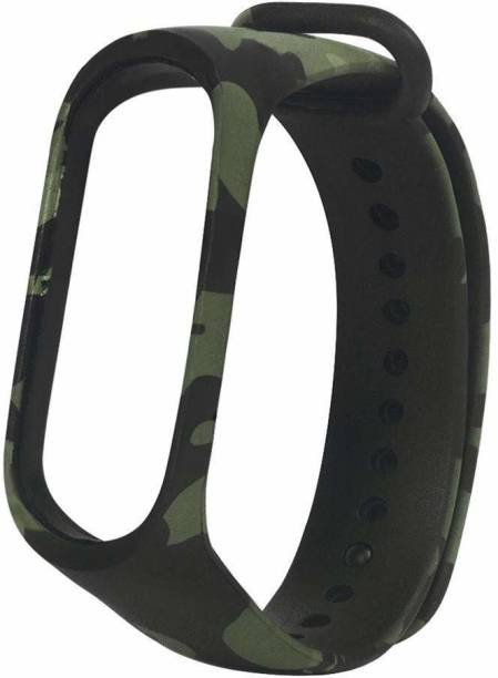 TOTU Smart Fitness Sport Watch Band Replacement Silicone Sports Soft Wrist Strap Bracelet Wristband for XIAOMI Mi Band 3 Straps Bracelets for Mi3 (Device not Included)-Army Green Smart Band Strap