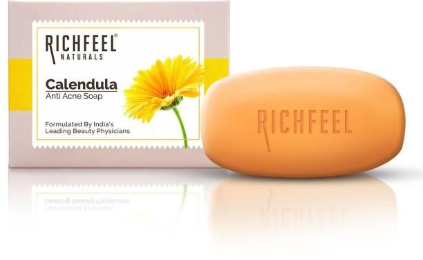 RICHFEEL RF09_Calendula_Acne_Soap_75_g (Pack Of 4)