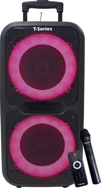 T-Series TR-88V 60W Trolley Speaker Portable Wireless Bluetooth DJ Party Speaker with LED Lights Rechargeable 60 W Bluetooth PA Speaker