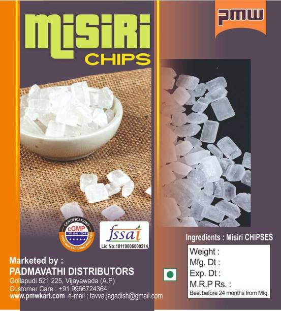 PMW Chips -1 Kg Mishri Dhaga - Dhage Wali Mishri,Misri Chunk - DHAGA MISRI - Threaded Sugar Candy Theard Sugar