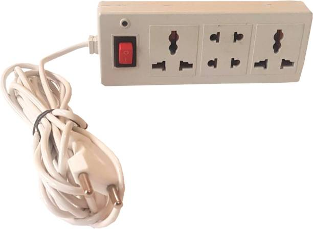 FabTrends 3+1 POCKET SIZE power strip/ extension cord; very compact design with led indicator 3  Socket Extension Boards