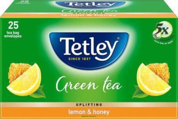 tetley GREEN TEA LEMON & HONEY 25 BAGS Honey, Lemon Green Tea Bags Box