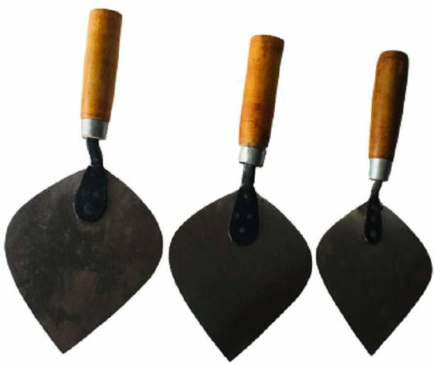 Kenware Trowel with Metal Blade for The Purpose of Construction Metal and Wood Trowel,karni Small, Medium, Large Set (Mason Tool)Garden Trowel 30 cm Garden Trowel
