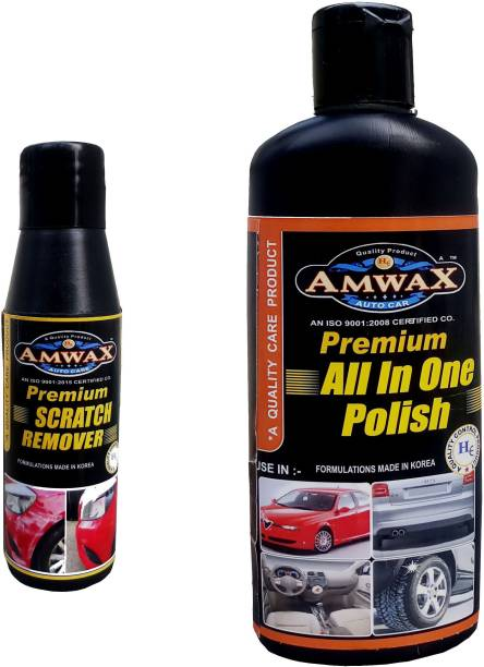 amwax All in one Polish 250 ml, Scratch Remover 50 ml Combo
