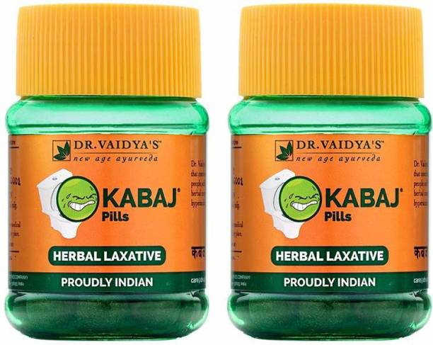 Dr. Vaidya's Kabaj Pills - Ayurvedic Treatment for Constipation & Indigestion - Pack of 2