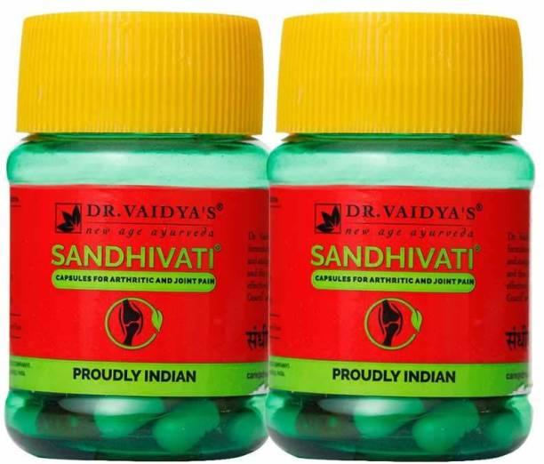 Dr. Vaidya's Sandhivati Capsules Ayurvedic Medicine for Knee and Joint Pain Relief - Pack of 2