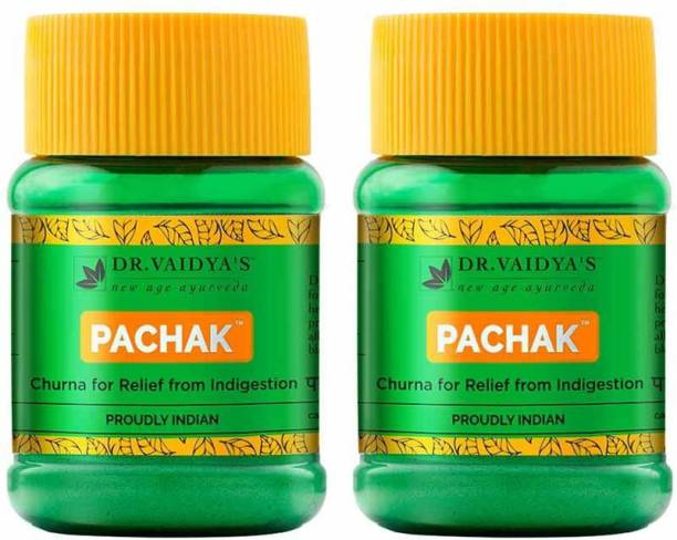 Dr. Vaidya's Pachak Churna - Ayurevdic treatment for Indigestion & Bloating made with 7 herbs - Pack of 2