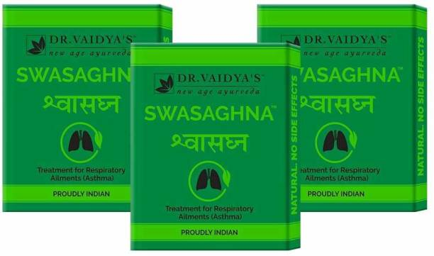 Dr. Vaidya's Swasaghna Pills - Ayurevdic Relief from Asthma & Respiratory Problems - Pack of 3