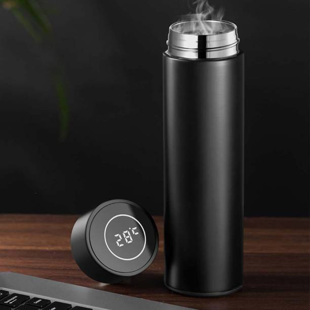 MARCRAZY Smart Flask/Bottle with LED Temperature Indicator | Insulated Steel Flask Bottle| 500 ml Flask