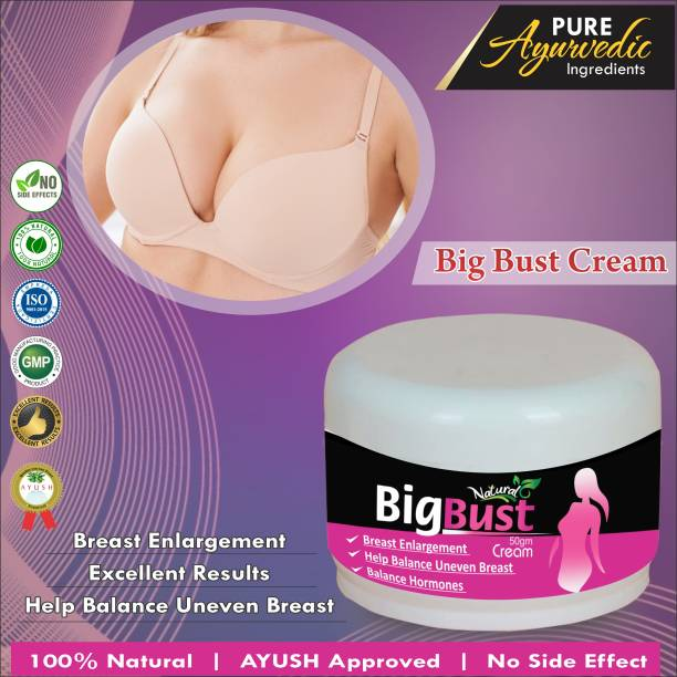 Natural Big Bust Ayurvedic Massage Cream For Helps In Prevents Sagging Your Breast Size 100% Ayurvedic