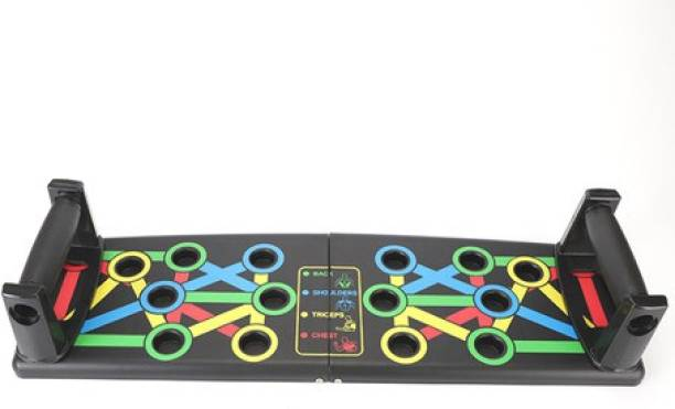 SEASPIRIT 9 in 1 Color Coded Foldable Pushup Board Complete Push Up Training System for men Push-up Bar