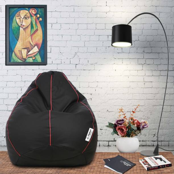 Flipkart SmartBuy XXL Tear Drop Bean Bag Cover  (Without Beans)