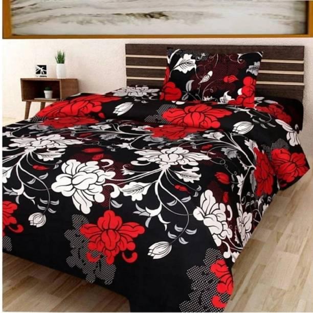 Pridhi 160 TC Polycotton Single Floral Bedsheet