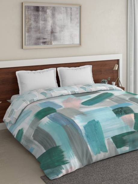 DDECOR Live beautiful Self Design Double Comforter