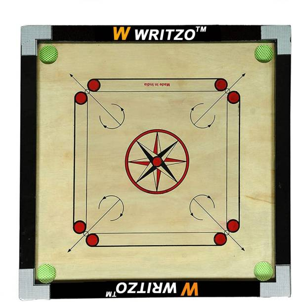 W WRITZO Premium Quality Smooth & Shiny Glossy Medium 26 inch Carrom Board 66.04 cm Carrom Board