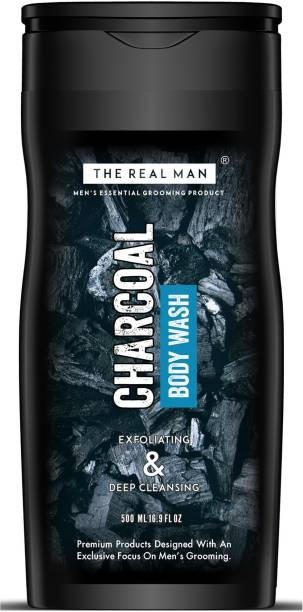 THE REAL MAN Charcoal Body Wash 500ml | Made in India.