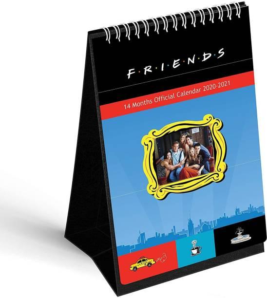 Mc Sid Razz Friends - TV Series - Table Calendar 2021 Monthly Desk Calendar   Table Calendar 2020-2021- Officially - Licensed by Warner Bros, USA 2020/2021 Table Calendar